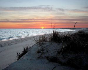 Chappaquiddick house photo - Sunset from Wasque