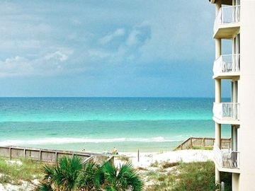 Dunes of Seagrove condo rental - Ahh...view from our Lanai! Boardwalk to our private beach is short & sweet