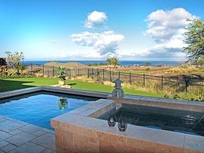 Mauna Kea villa rental - View from Lanai overlooking private pool/spa