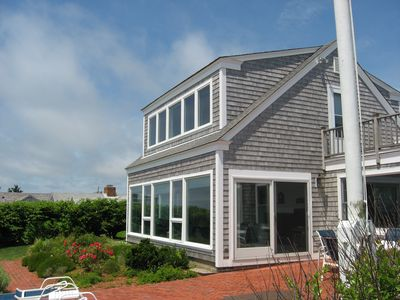 Harwich - Harwichport house rental - The back of the house is practically all windows to take advantage of the views.