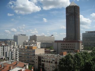 Lyon studio photo - View from balcony towards 'Crayon' tower