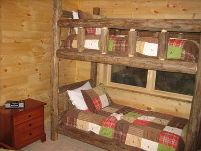 Bunk bed room with full-size bed (not shown). Great for kids.