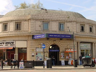 Great Portland Street tube station - 2 min walk