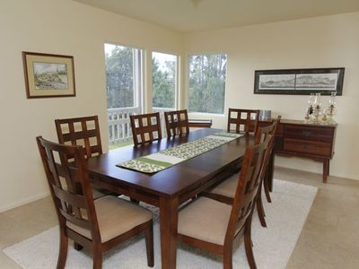 Dining room. Seating for 8 guest. Surrounded by views.