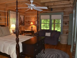 Romantic Master Suite with sitting area, ceiling fan. - Barnard house vacation rental photo