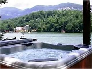 Lake Lure cottage photo - Hot Tub overlooking the Lake and Mountains