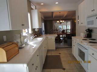 Heavenly Valley house photo - White Italian tile galley kitchen, fully equipped