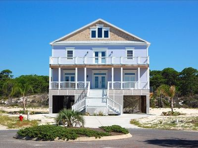 The 'Purple Parrot' is the Ultimate Dauphin Island Beach House!