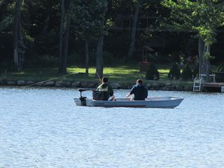 Mount Pocono chalet photo - Jon Boat - with Oars or Trolling motor. Battery and charger included.