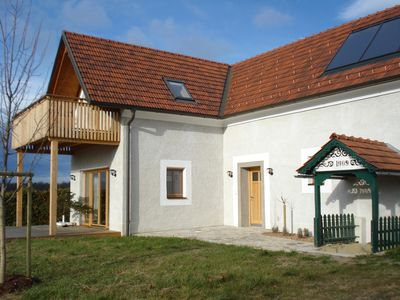 Ecologically newly built 'Landhaus am Kälberberg' with a wonderful view