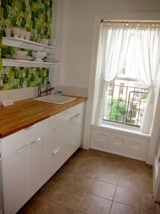 Brooklyn apartment rental - Windowed kitchen
