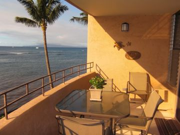 Start The Day With Coffee On The Oceanfront Lanai