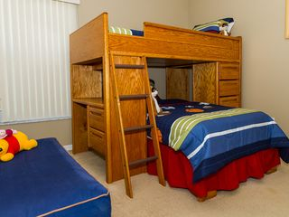 Indian Creek villa photo - Bedroom #3 twin size bunk beds for children, TV in the room