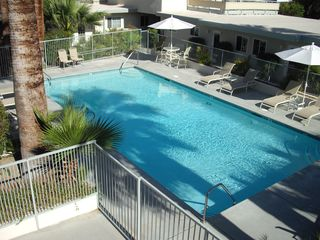 Palm Springs condo photo - View from the balcony, which overlooks the pool