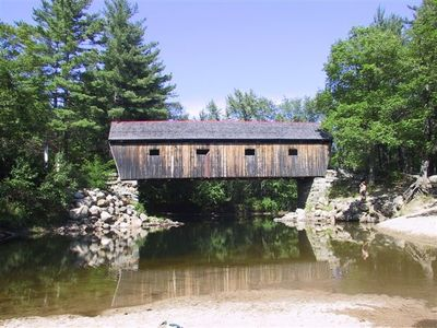 Covered bridge swimming hole nearby.