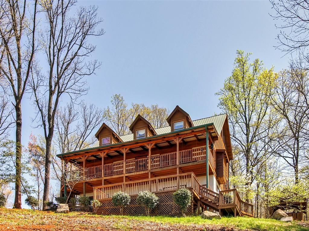 39 flying eagle lodge 39 upscale 5br sevierville log 4332898 for Eagles view cabin sevierville tn