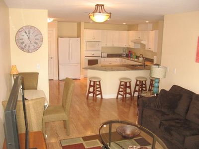 Old Orchard Beach condo rental - Living Room/kitchen