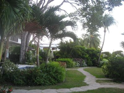 Apartment gardens.Beach front