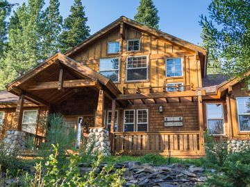 Truckee house rental - Edelweiss Tahoe features of mix of Cape Cod and Mountain Chalet inspirations