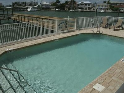 Enjoy a dip in our private condominium waterfront pool
