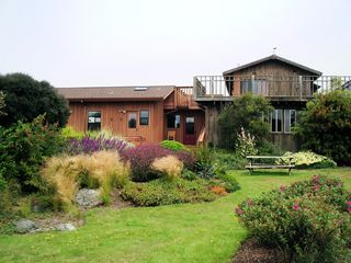 private garden, spa, deck - Mendocino house vacation rental photo