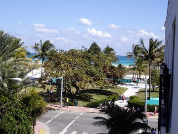 View from Balcony with beach across the street