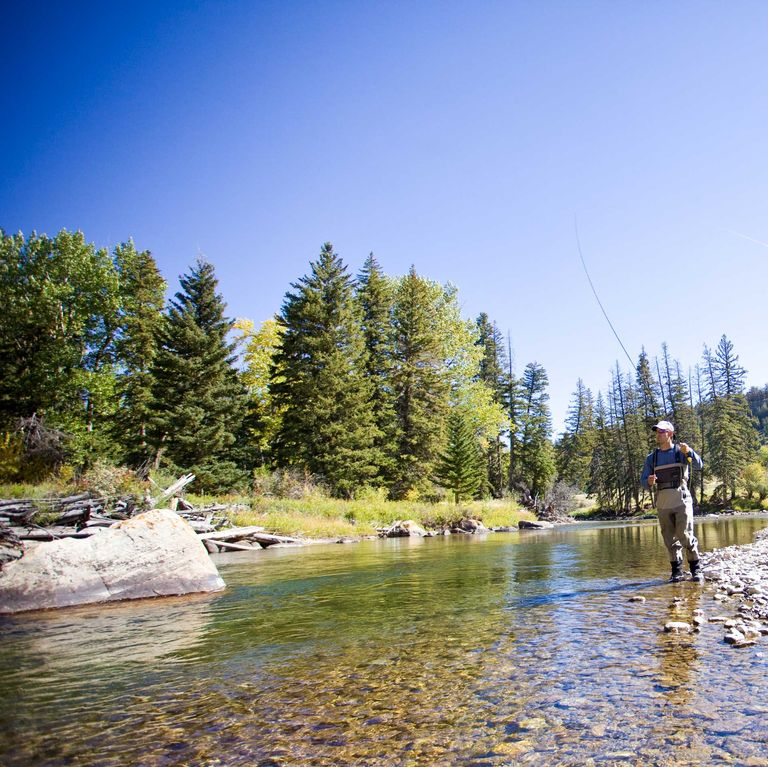 Flyfishing on the Boulder River, which is about 60 minutes from the cabin.