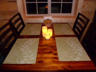 Dining table for 4 w/ LCD candles