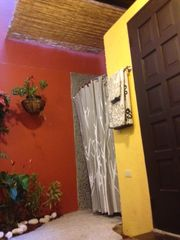 San Juan villa photo - First floor garden Bathroom Shower Has Black Rock Walls, Bamboo Canopy