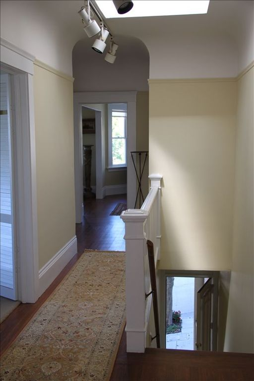 Light filled interior hallway, upon entering the apartment.