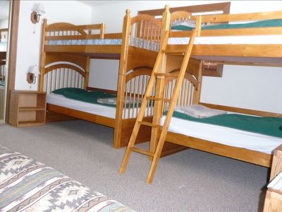 Bunk room with futon
