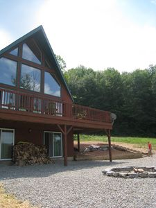 Ellicottville chalet rental - Try and find a better location to roast marshmallows