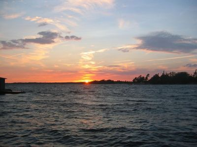 Clayton cottage rental - Quiet evening Sunset on the Thousand Islands
