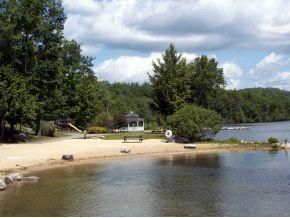 Laconia house photo - Another view, eat in the gazebo while the kids play at the beach or playground