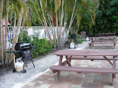 grills and picnic tables