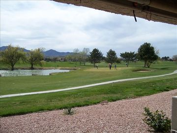 Prescott Valley condo rental - View of the course from the patio,living room and master bedroom