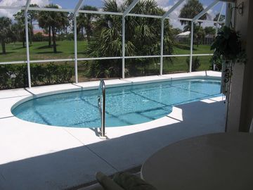 Punta Gorda house rental - Salt water pool, golf course in background
