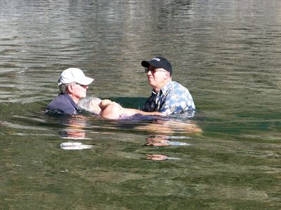 Baptized on the Delta River north of Lakehead.  Also a great swimming area.