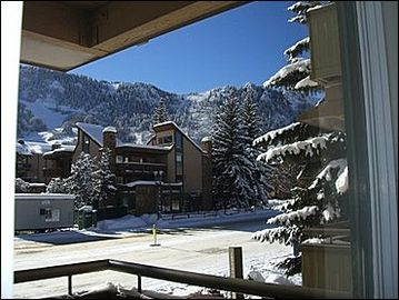 View of Aspen Mountain from Balcony