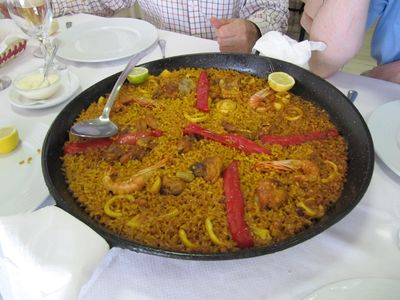 Paella in the local Restaurant La Nuza