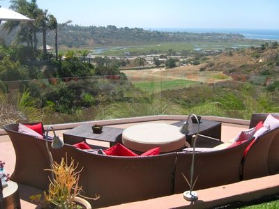 Our breathtaking view of Cardiff Reef, San Elijo Lagoon and Lower Deck