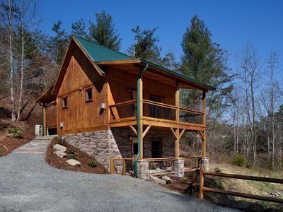 Asheville vacation rental vrbo 581216 2 br smoky for Asheville cabin rentals pet friendly