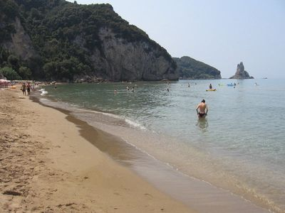 Agios Gordios Sandy Beach, 10 minutes away