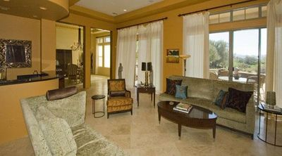 Living Room overlooking 11th Fairway at The Gallery Golf Club