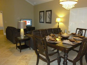 Open Living Room Dining Room, Dining room seats 6 plus another 8 in Kitchen nook