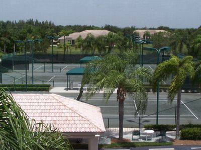 Great View of the very active tennis courts.