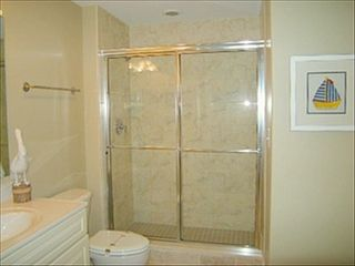 Belmont Towers Ocean City condo photo - Bath for bedroom 3 also serves as the hall bath