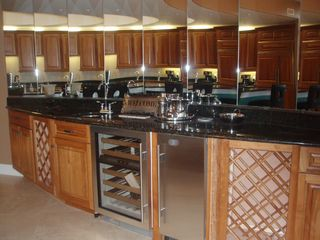 Perdido Key condo photo - Wet bar with Sub-zero Wine Refrigerator