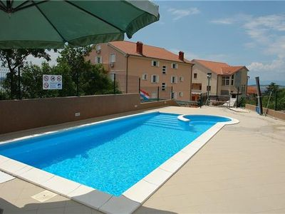 Apartment for 4 people, with swimming pool, close to the beach in Crikvenica