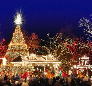 Silver Dollar City is beautiful during the Christmas season